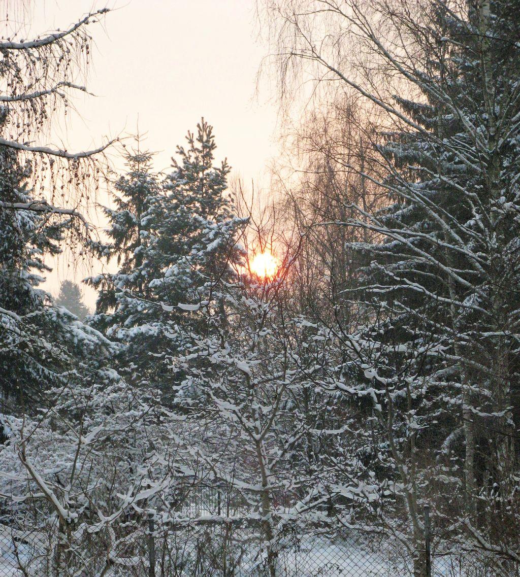 zimowy zachód